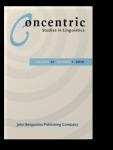 Concentric: Studies in Linguistics