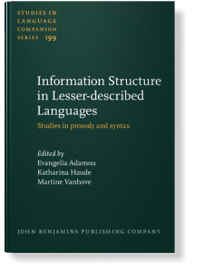 Information Structure: Theoretical, Typological, and Experimental Perspectives