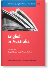 English In Australia Edited By David Blair And Peter Collins