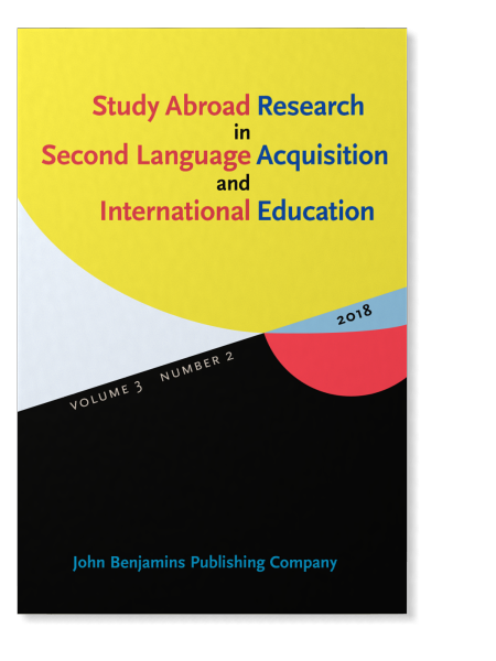Cover of journal Study Abroad Research in Second Language Acquisition and International Education