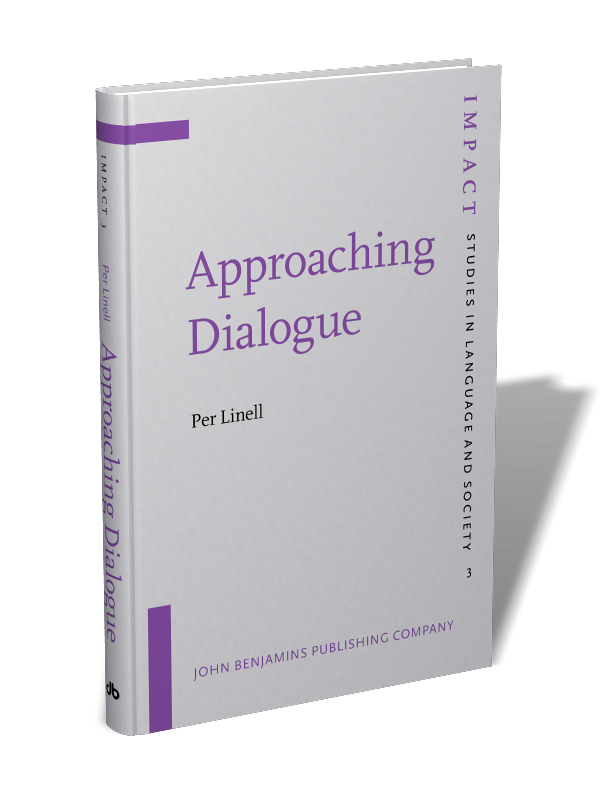 Approaching Dialogue: Talk, interaction and contexts in