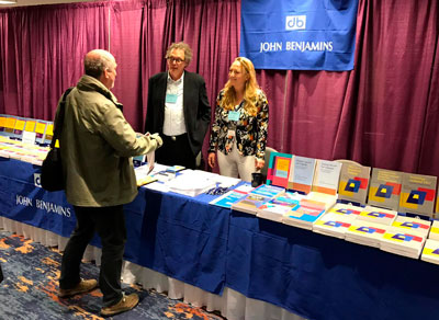 Kees Vaes and Seline Benjamins at AAAL conference 2019