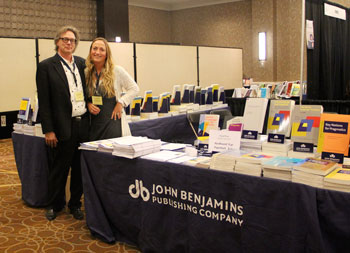 Seline Benjamins and Kees Vaes at 2012 AAAL conference
